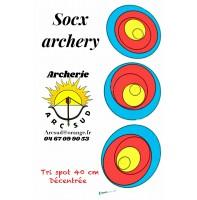 Socx archery blason tri spot 40 excentrique