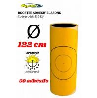 Booster adhésif jaune blason 122 cm