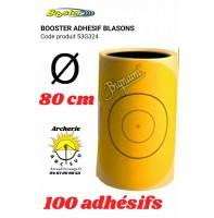 Booster adhésif jaune blason 80 cm
