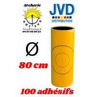 Jvd adhésif jaune blason 80 cm