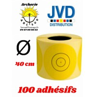 Jvd adhésif jaune blason 40 cm