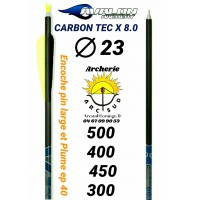 Avalon tube carbon tec x 8.2 diamètres 23 (par 6)