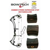 Bowtech amortiseur caoutchouc rectangulaire stop corde
