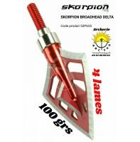Skorpion lame delta 4 lames (pack de 3)