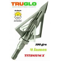 Truglo lames fixe titanium x 4 lames (pack de 3)