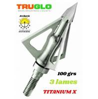 Truglo lames fixe titanium x 3 lames (pack de 3)