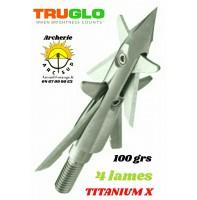 Truglo lames mécanique titanium x 4 lames (pack de 3)