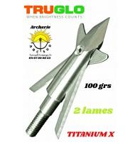 Truglo lames mécanique titanium x 2 lames (pack de 3)