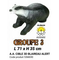 AA cible 3d Blaireau alerte 53M690