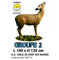 AA cible 3d Cerf qui mange 535114