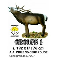 AA cible 3d Cerf Rouge 53A297