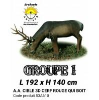 AA cible 3d Cerf Rouge qui boit 53A610