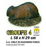 AA cible 3d Ragondin foncée