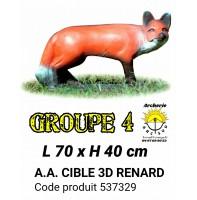 AA cible 3d Renard 537329
