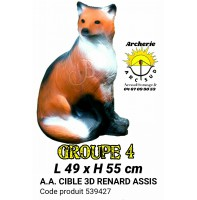 AA cible 3d Renard assis