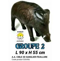 AA cible 3d Sanglier feuillure