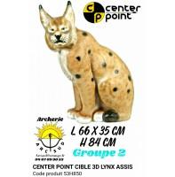 C point bête 3d lynx assis 53h850