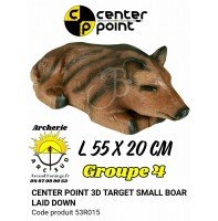 C point bête 3d small boar laie down