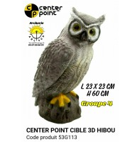 C point bête 3d hibou