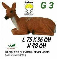 LG bêtes 3d chevreuil femelle assis