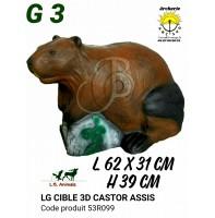 LG bêtes 3d castor assis