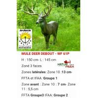 Natur foam bête 3D mule deer debout wf61p
