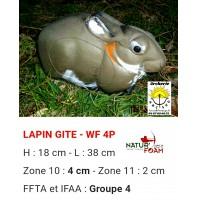 Natur foam bête 3D lapin gîte wf4p