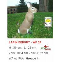 Natur foam bête 3D lapin debout wf5p
