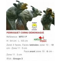 Natur foam bête 3D perroquet cornu démoniaque wf51f