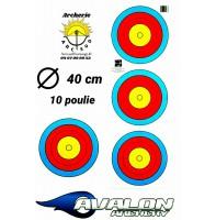 Avalon blason tri spot 40 cm 10 poulie (par 100)