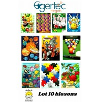 Egertec lot 10 blasons jeu