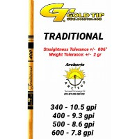 Gold tip tube carbon traditional (par 12)