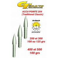 Gold tip accu pointe 204 (par 12)