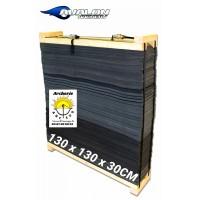 Avalon mousse avec cadre bois 130 x 130 x 30 cm