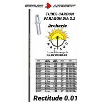 Skylon archery tubes carbon parangon dia 3.2 (par 12)