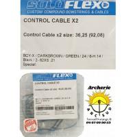 Flex archery lot 2 contrôle câbles 36.25 pouces