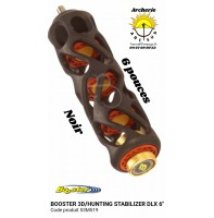 Booster stab chasse stabilizer dlx 6 pouces noir