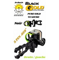 Black gold viseur chasse pure gold 75 micro