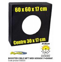 Booster cible mft midi 60 x 60 x 17 cm avec insert durafoam