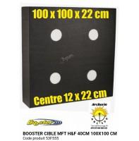 Booster cible mft hf 100 x 100 x 22 cm blason 40 cm