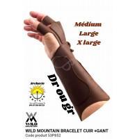 Wild mountain protège bras + gant cuir