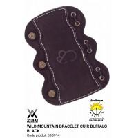 Wild mountain protège bras cuir Buffalo noir