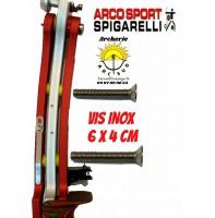Spigarelli vis inox poignée révolution 6 x 4 cm