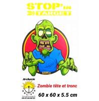 stop in target Cible 2D tête et tronc zombie