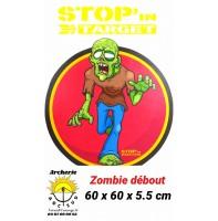 stop in target Cible 2D zombie debout