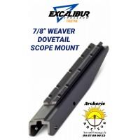 Excalibur rail lunette arbalète 7/8 veaver