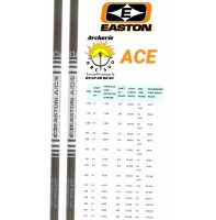 Easton tube carbon alu ace (par 12)