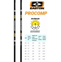 Easton tube carbon alu procomp (par 12)