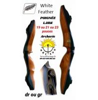 White feather poignée chasse lark