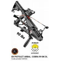 Ek archery pistolet arbalète cobra r9 noir 90 lbs 55l932